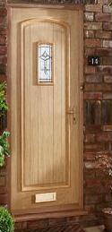 An external hardwood door