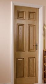 An internal hardwood door