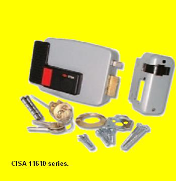 fit a cisa electric lock for security on your main door. Black Bedroom Furniture Sets. Home Design Ideas