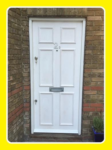 A Finished Fire Door with panel effect locks and letter box. & The Fire Door East Finchley N2 Fitting Service pezcame.com